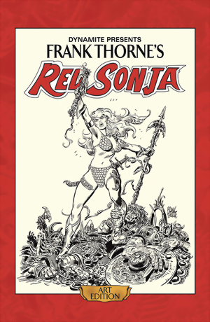 Frank Thorne´s Red Sonja Deluxe Art Edition HC signed by Frank Thorne & Roy Thomas